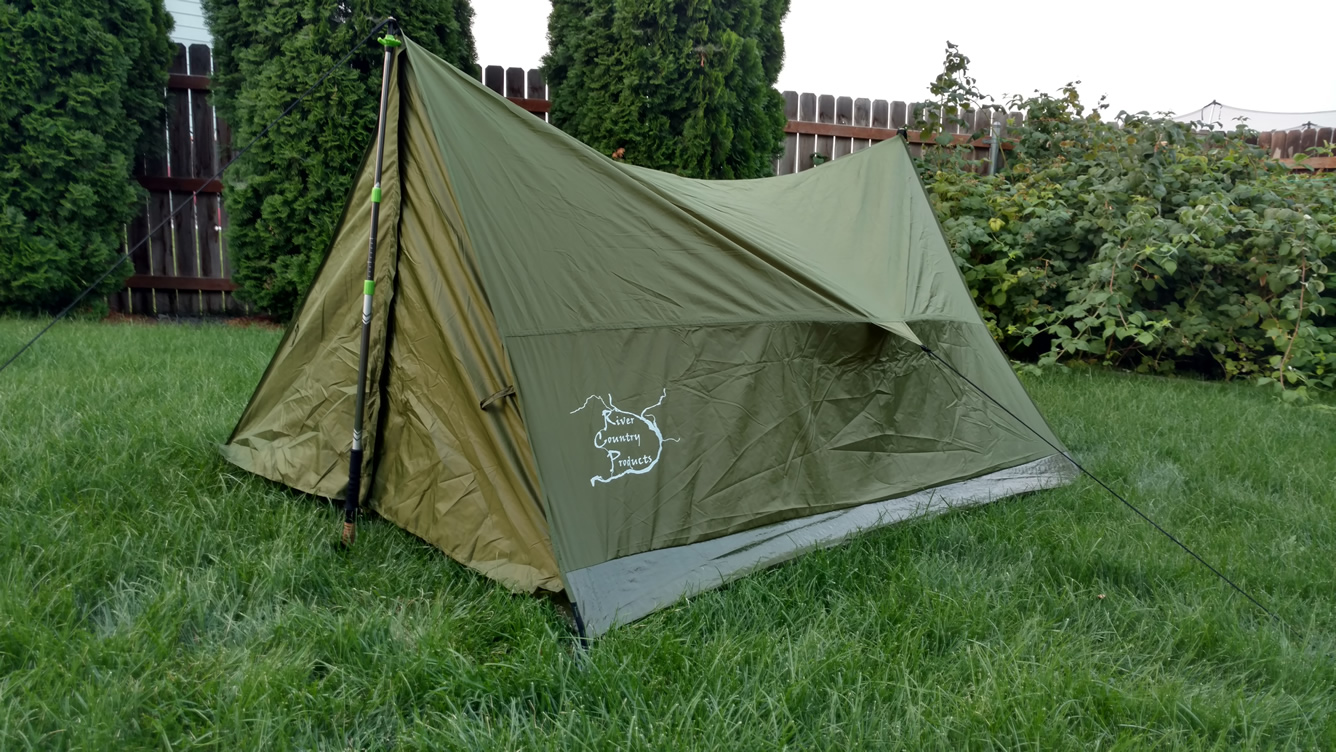 River Country Trekker 2 Tent · Backpacking Tent without Polls & Trekker Tent 2 lightweight backpacking tent trekking pole tent ...