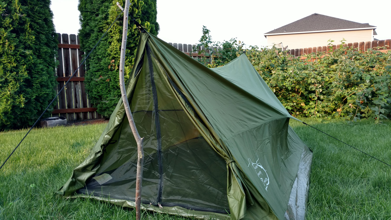 Backpacking Tent without Polls & Trekker Tent 2 lightweight backpacking tent trekking pole tent ...