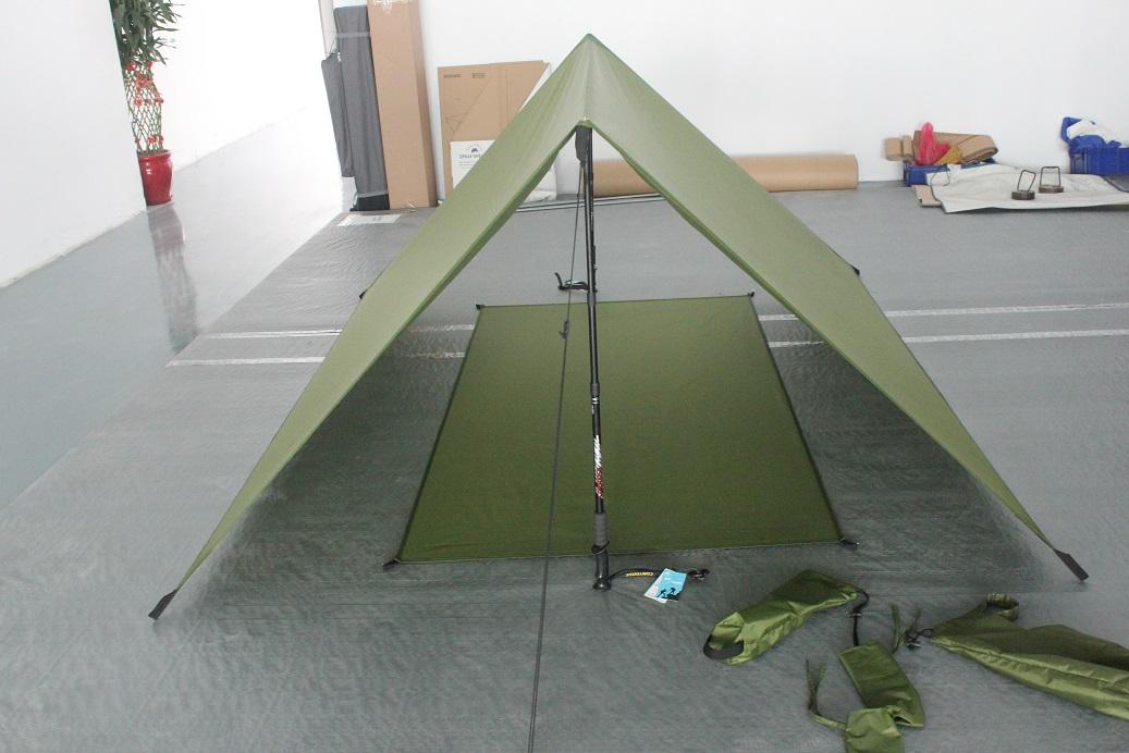 Trekking Pole Backpacking tent shelter & Trekker Shelter Tent 2 supper light backpacking shelter hammock ...
