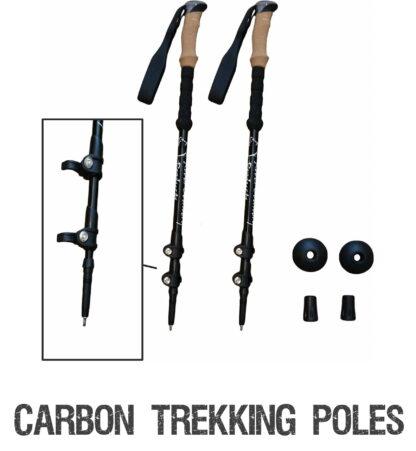 Carbon fiber aluminum trekking poles