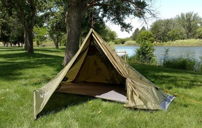 one person no pole tent