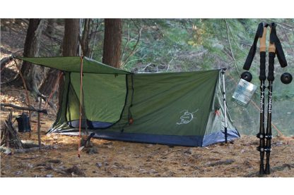 Trekking pole tent 1A with poles