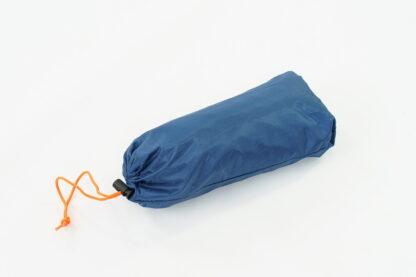 blue backpacking poncho bag
