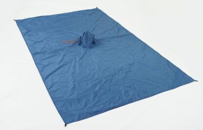 blue backpacking poncho tarp
