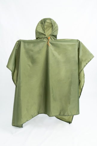 lightweight backpacking poncho green