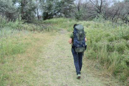 woman wearing backpacking backpack
