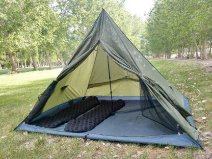 trekker tent 3 with sleeping pads