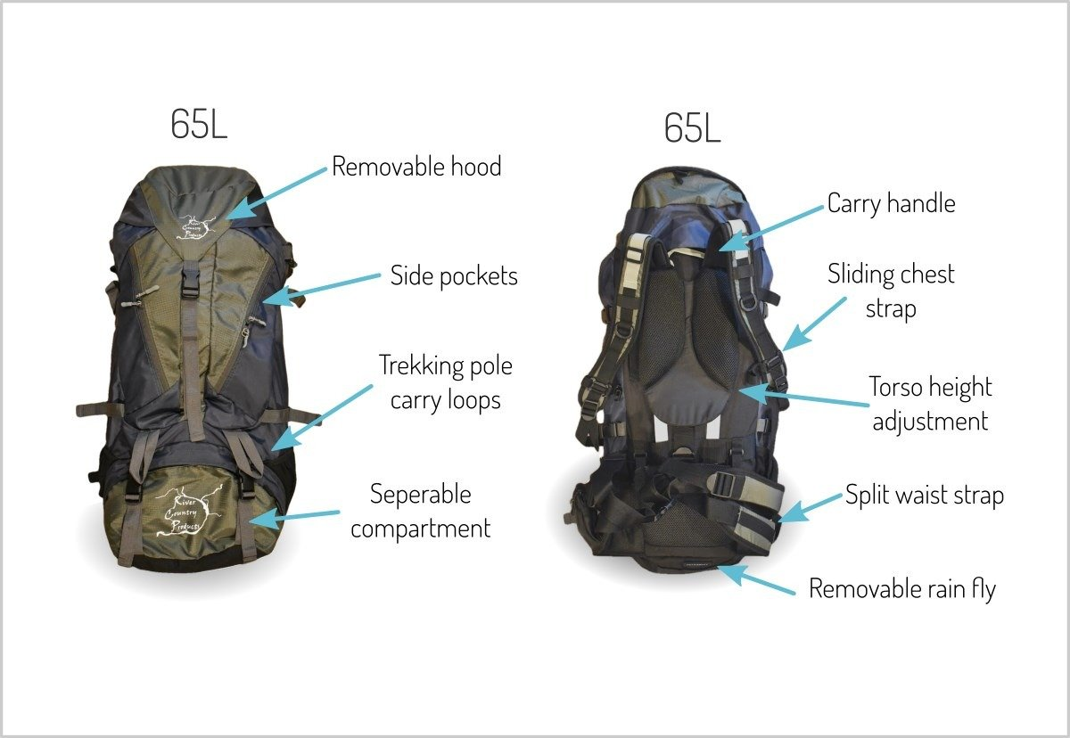 65 liter backpacking backpack